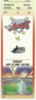 1998 MLB Devil Rays at Angels ticket stub