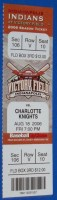2006 Indianapolis Indians ticket stub vs Charlotte