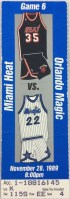 1989 NBA Heat at Magic ticket stub