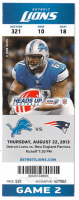 2013 NFL Lions vs Patriots