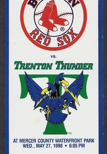 1998 MiLB MLB Boston Red Sox vs Trenton Thunder ticket stub