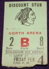 CHL Dallas Black Hawks ticket stub