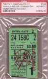 1951 Mickey Mantle Debut ticket stub