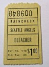1960s Seattle Angels ticket stub