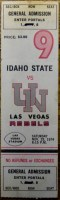 1974 NCAAF Idaho State at UNLV ticket stub