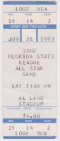 1993 Florida State League All Star Game ticket stub