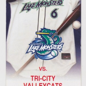 2006 Vermont Lake Monsters ticket stub vs Tri-City ValleyCats