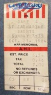1984 AHL Rochester Americans ticket stub vs St. Catharines