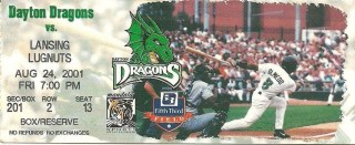 2001 MiLB Midwest League Lugnuts at Dragons