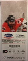 2017 NHL Flyers at Senators ticket stub