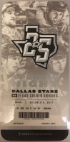 2017 NHL Golden Knights at Stars ticket stub
