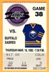 1992 NHL Sabres at Kings