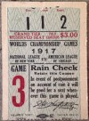 1917 World Series Game 6 Ticket Stub White Sox at Giants