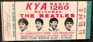 1966 The Beatles Candlestick Park