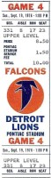 1976 NFL Falcons at Lions