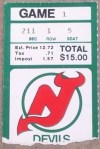 1982 NHL Penguins at Devils 1st Devils game