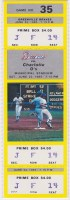 1985 Greenville Braves ticket vs Charlotte O's