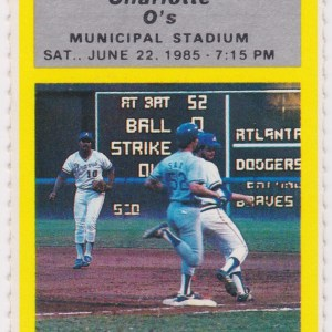 1985 Southern League Charlotte O's at Greenville Braves