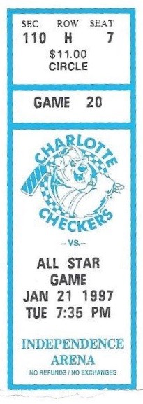 1997 ECHL All Star Game Charlotte Checkers