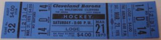 1970 AHL Clippers at Barons