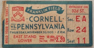 1933 NCAAF Cornell at Pennsylvania