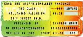 1982 The Clash Live at the Hollywood Palladium