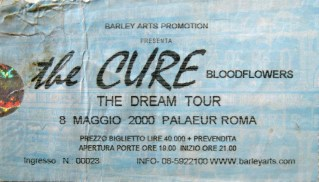 2000 The Cure Ticket Italy Rome 20