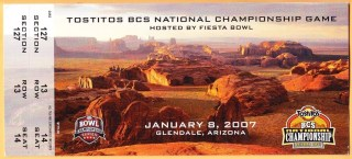 2007 BCS National Championship Ticket Stub Ohio State vs Florida 1