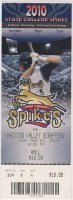 2010 State College Spikes ticket vs Scrappers