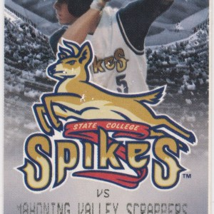 2010 State College Spikes ticket vs Scrappers 8/22/2010