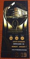 2019 National Championship Ticket Stub Alabama vs Clemson