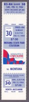 1984 CHL Indianapolis Checkers ticket vs Montana Magic
