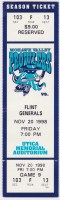 1998 UHL Mohawk Valley Prowlers ticket stub vs Flint