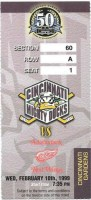1999 AHL Cincinnati Mighty Ducks ticket stub vs Adirondack