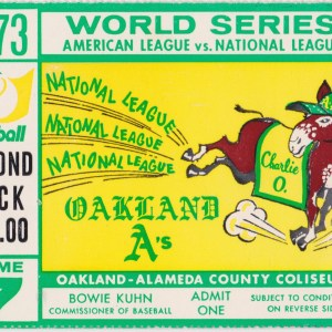 1973 World Series Game 7 ticket stub A's vs Mets 10/21/1973