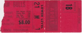 1978 WHA Playoffs ticket stub Jets at Bulls 30