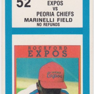 1990 Rockford Expos ticket stub vs Peoria Chiefs 7/17/1990