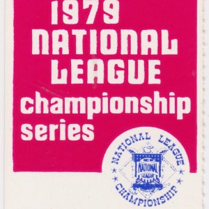 1979 NLCS Game 3 ticket stub Reds vs Pirates 10/5/1979