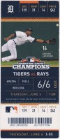 2013 Detroit Tigers ticket stub vs Rays