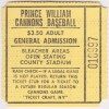 90s Prince William Cannons ticket stub