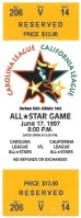 1997 Single A All Star Game ticket stub