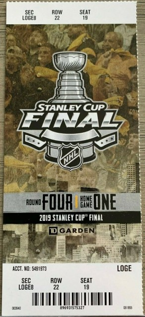 2019 Stanley Cup Final Game 1 ticket stub Blues vs Bruins