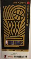 2019 NBA Finals Game 1 ticket stubs Warriors vs Raptors