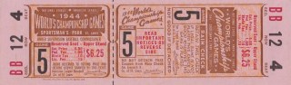 1944 World Series Game 5 Full Ticket Browns vs Cardinals