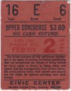 1968 AHL Baltimore Clippers ticket stub