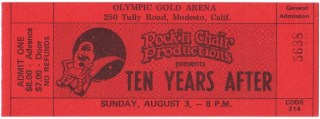 1975 Ten Years After ticket stub Modesto