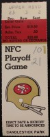 1984 NFC Divisional Playoff ticket stub Giants vs 49ers