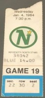 1984 Wayne Gretzky Milestone Ticket Stub 8 Point Game