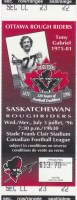 1996 CFL Ottawa Rough Riders ticket stub vs Saskatchewan Roughriders