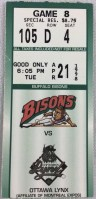 1998 Buffalo Bisons ticket stub vs Ottawa